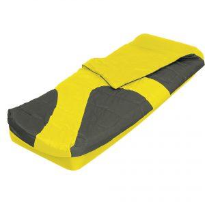 שק שינה עם מזרן יחיד צהוב